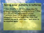 testing jesus authority in suffering82