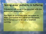 testing jesus authority in suffering83