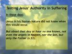 testing jesus authority in suffering84