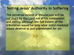 testing jesus authority in suffering91
