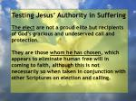 testing jesus authority in suffering92