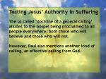 testing jesus authority in suffering93