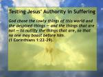 testing jesus authority in suffering96
