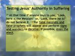 testing jesus authority in suffering98