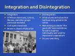 integration and disintegration