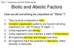 biotic and abiotic factors1
