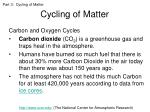 cycling of matter8