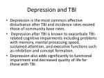 depression and tbi