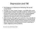 depression and tbi1