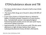 etoh substance abuse and tbi