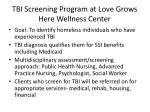 tbi screening program at love grows here wellness center