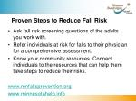proven steps to reduce fall risk
