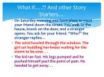 what if and other story starters