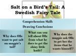 salt on a bird s tail a swedish fairy tale