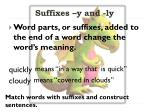 suffixes y and ly1