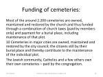 funding of cemeteries