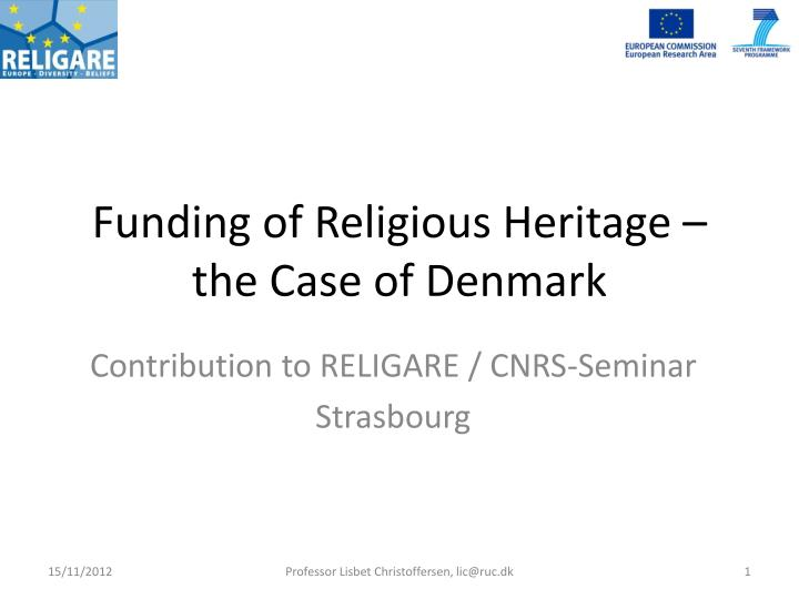 funding of religious heritage the case of denmark n.