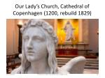 our lady s church cathedral of copenhagen 1200 rebuild 1829