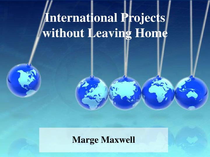 international projects without leaving home n.
