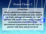 project choice 2