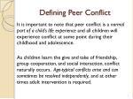defining peer conflict