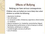 effects of bullying
