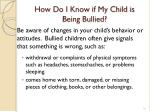 how do i know if my child is being bullied
