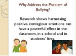why address the problem of bullying