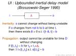 ui upbounded inertial delay model brzozowski seger 1995
