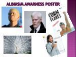 albinsim awarness poster
