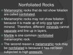 nonfoliated rocks
