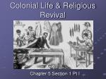 colonial life religious revival