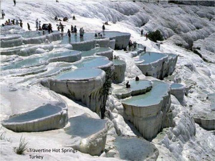 Travertine Hot Springs Turkey