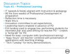 discussion topics topic 1 professional learning