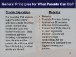 general principles for what parents can do