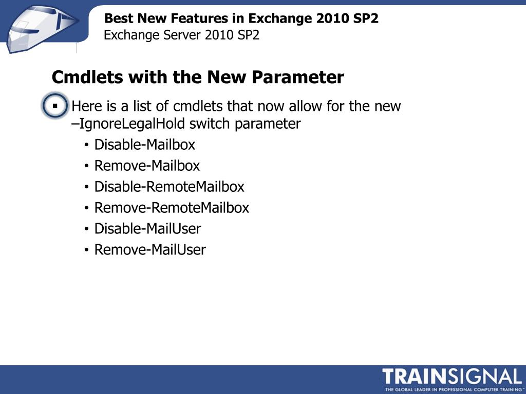 PPT - Exchange Server 2010 SP2 Training PowerPoint