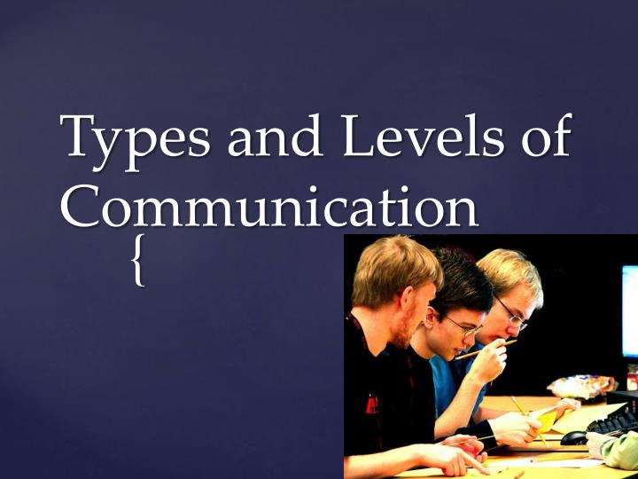 types and levels of communication n.