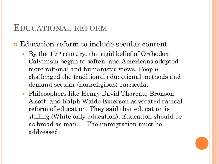 reformers and radicals essay Read this full essay on reformers and radicals question: what means did reformers and radicals use to communicate their messages and how did these reformers and radicals used methods such as public speech, writings, organizations, and even violence to communicate to the entire nation.