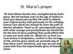 st maria s prayer