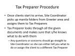 tax preparer procedure1