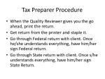 tax preparer procedure5