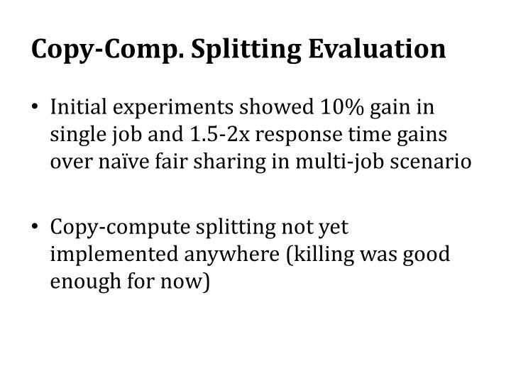 Copy-Comp. Splitting Evaluation