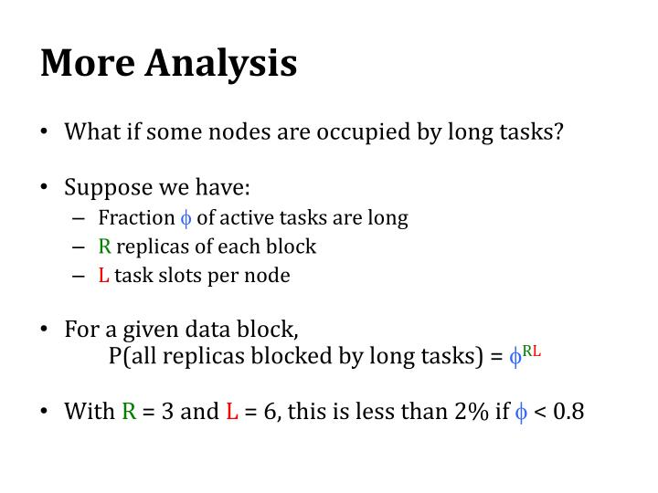More Analysis