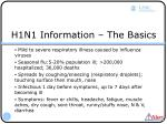 h1n1 information the basics