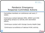 pandemic emergency response committee actions