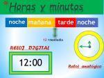 horas y minutos