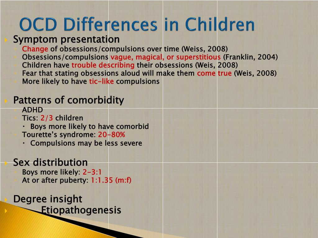 PPT - Obsessive-Compulsive Disorder PowerPoint Presentation