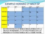 ejemplo horario 1 bach sp