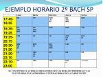 ejemplo horario 2 bach sp