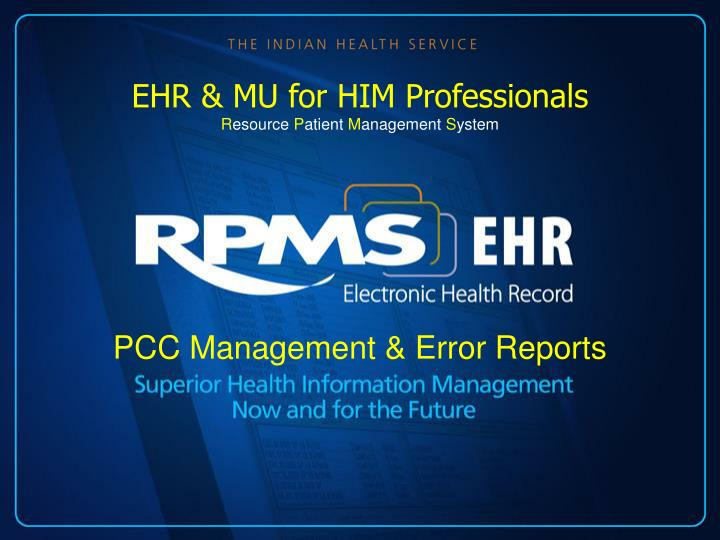pcc management error reports n.